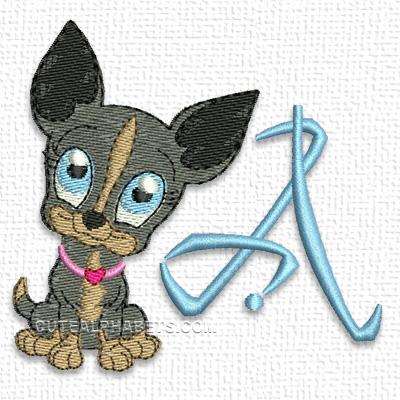 Little doggy font