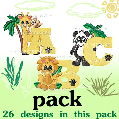 Zoo animal font