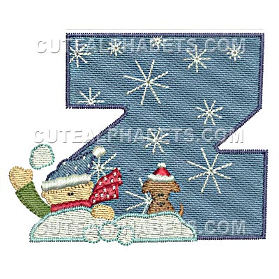 Letter Z - Cute Alphabets - Embroidery Fonts