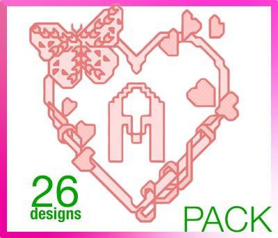 Valentine Cross Stitch font