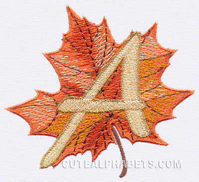 Maple leaf font
