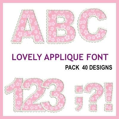 Lovely Applique Font
