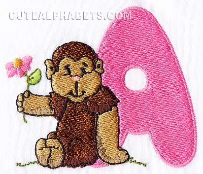 Funny monkey font