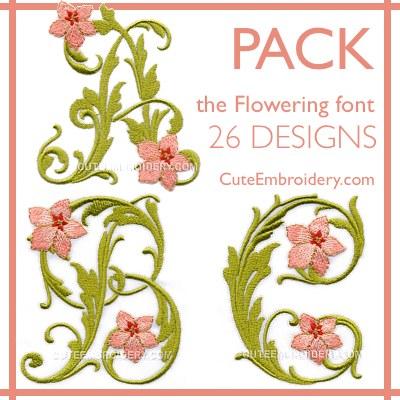 Flowering font