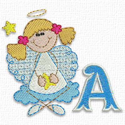 Christmas angel font
