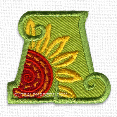 Sunflower applique font