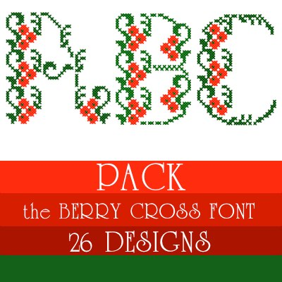 Berry Cross font. Exclusive