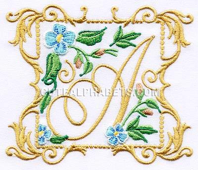 Flower frame font