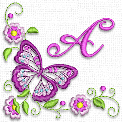 Graceful butterfly font