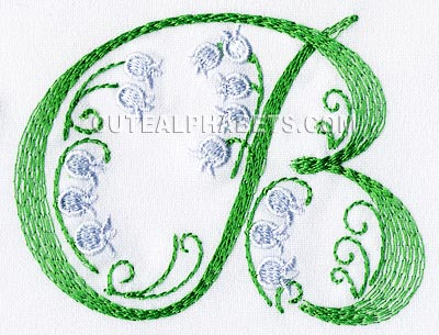letter b cute alphabets embroidery fonts