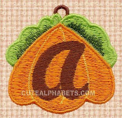Pumpkin charm lace font