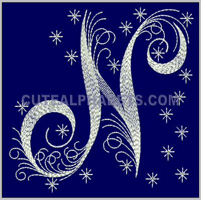 letter n design id 1648 size in 394w x 374h mm 100mmw 95mmh stitches 5280 colors