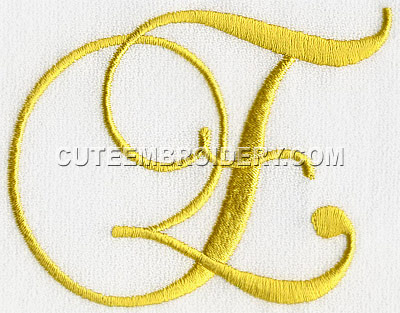 letter e cute alphabets embroidery fonts