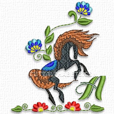 Prancing horse font