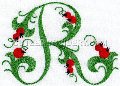 Letter r cute alphabets embroidery fonts letter r spiritdancerdesigns Image collections