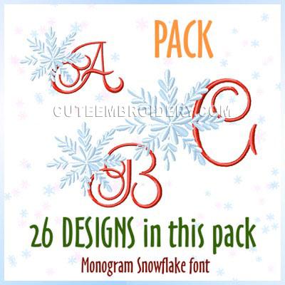 Monogram Snowflake Font