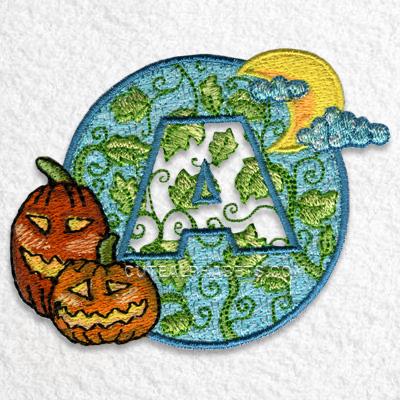Embossed halloween font