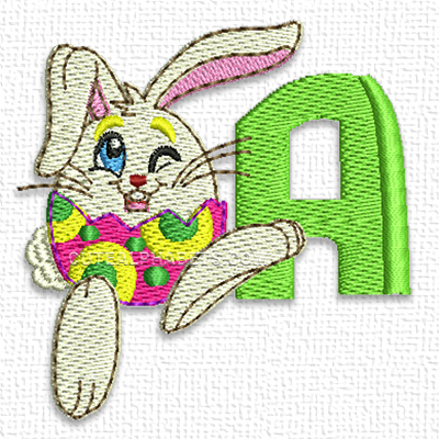 Easter bunnies font