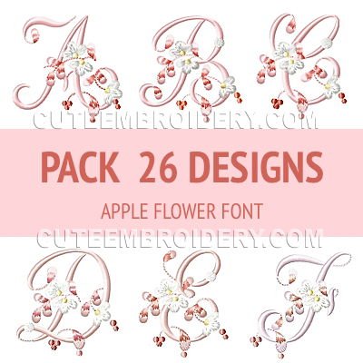 Apple flower font