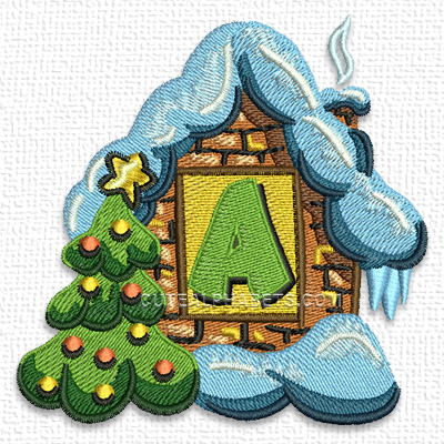 Christmas house font. Exclusive