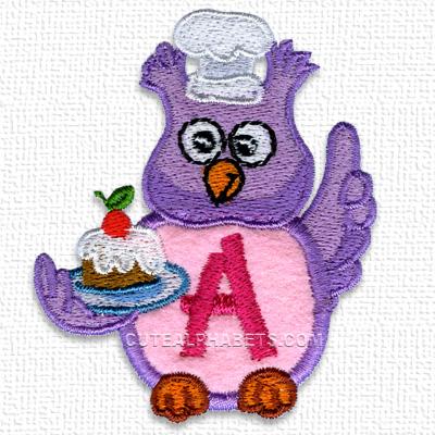 Owl applique font