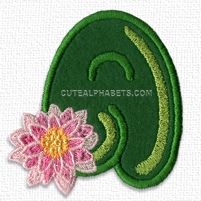Water lily font. Exclusive