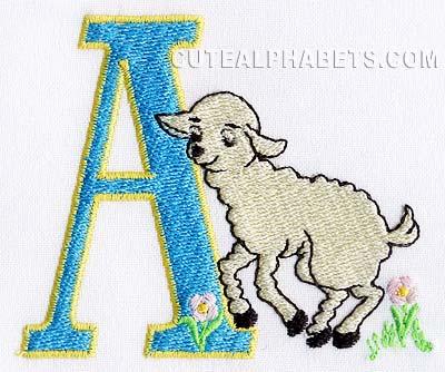Easter lamb font