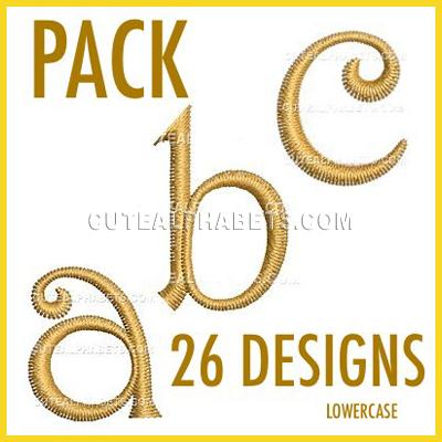 Sunny font_lowercase