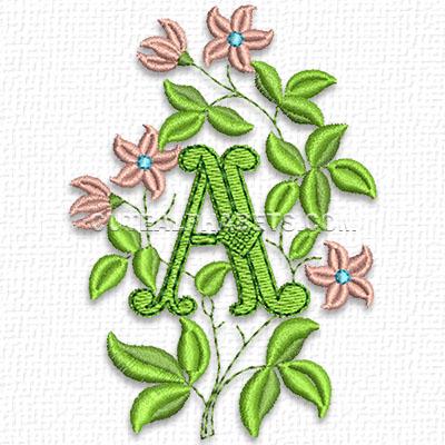 Forest flower font