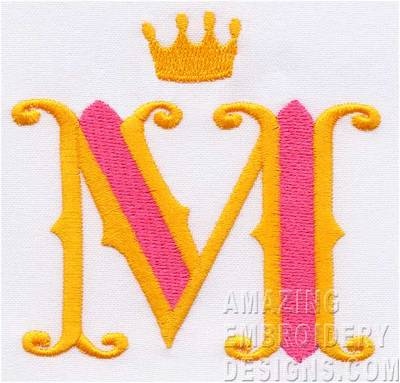 Letter M - Cute Alphabets - Embroidery Fonts