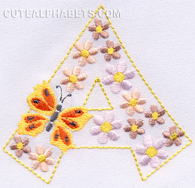 Butterfly flowers font