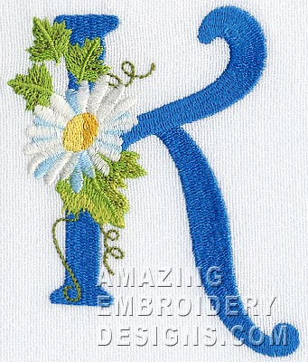 letter k - cute alphabets - embroidery fonts