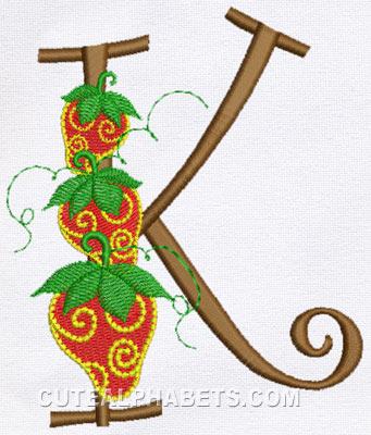 pretty letter k