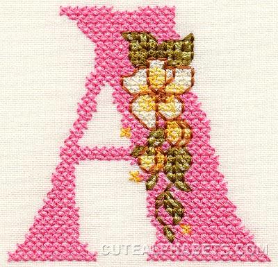 Pink cross font